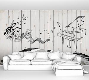 Клавиши на заборе