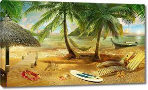 Прекрасный день на золотом пляже