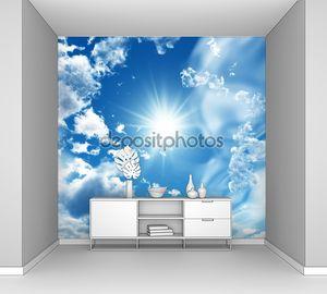 Солнце окружено облаками