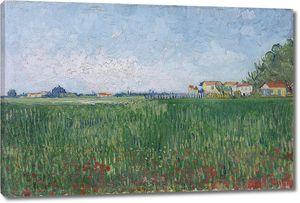 Ван Гог. Фермерские дома на пшеничном поле недалеко от Арля