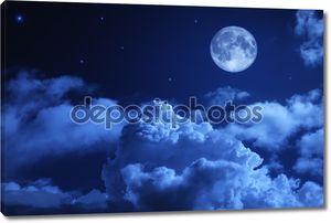 Трагические ночное небо с полной Луны