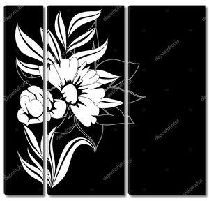 Черный и белый шаблон для карты