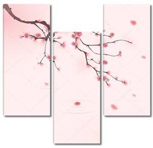 Китайский стиль. Веточка сакуры