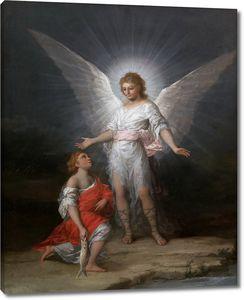Гойя и Лусиентес Франсиско де. Товия и ангел