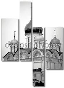 Черно-белое фото церкви