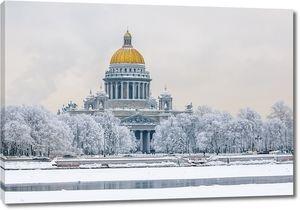 Исаакивский собор зимой