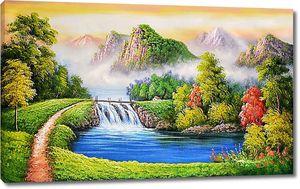 Тропинка к горному водопаду