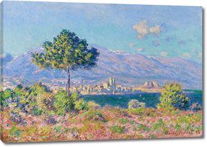 Моне Клод. Вид Антиб с плато Нотр-Дам, 1888