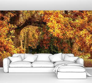 Осенний пейзаж с великолепным дубом