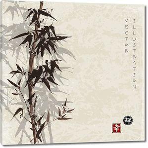 Рисованной деревья бамбука.