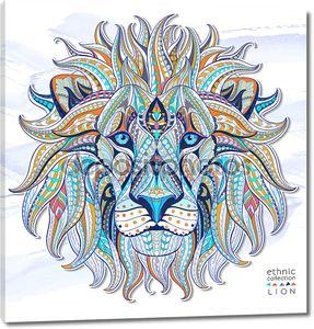 Этнических голова льва, символ