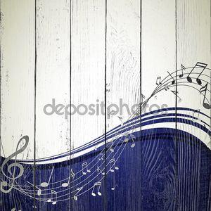 Музыкальный двухцветный фон