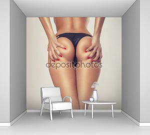 Попки секси девушка, без целлюлита