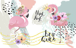 Милые фламинго