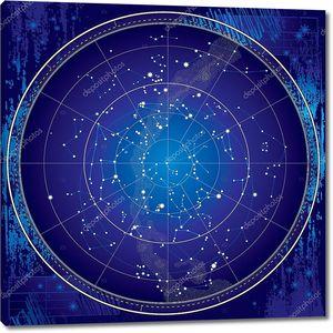 Небесные карта ночного неба