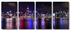 Гонконг Остров Центральный город ночью