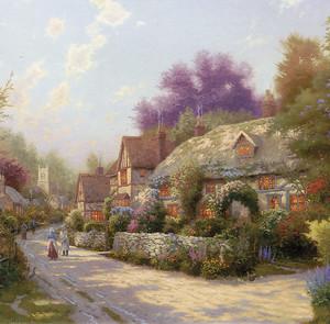 Сказочная улица с прекрасными домами