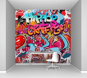 Graffiti wall vector abstract background