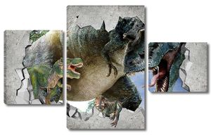 Тиранозавр из стены