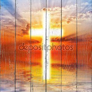 Крест появляется на небе восход