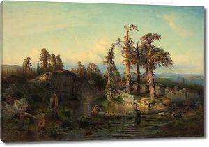 Август Каппелен. Лесной пруд в Телемарке
