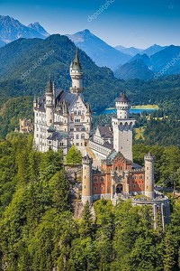 Neuschwanstein Fairytale Castle near Fussen, Bavaria, Germany