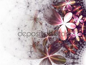 Фрактальная цветы