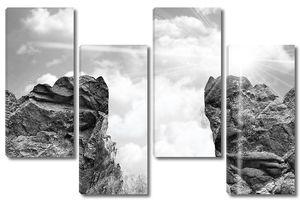 серое небо с Скалистых гор