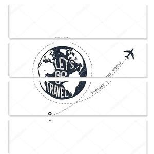 Рука нарисованные путешествия значок с текстурированной векторные иллюстрации.