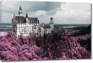 знаменитый Нойшванштайн, Бавария, Германия