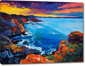 Картина морского залива