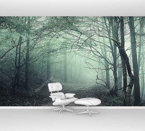 Зеленый туман в таинственном лесу