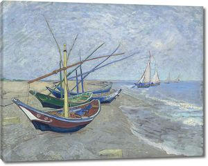 Ван Гог. Рыбацкие лодки на пляже в Сэнт-Мари де ла Мер