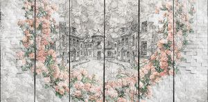 Розы и нарисованный город