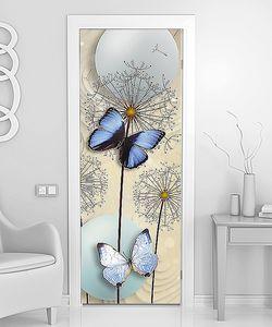 Одуванчики, бабочки, шары
