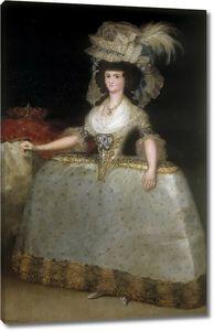 Гойя и Лусиентес Франсиско де. Королева Мария Луиза с турнюром