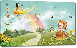 Маленькая фея на радуге