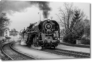 Old steam train
