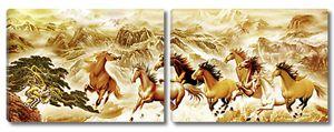 Лошади на бегу