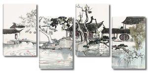 Китайские домики у воды