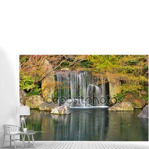 Водопад в японский Дзен Сад