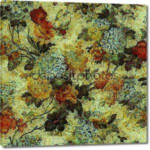 Художественный старинный фон цветочного узора