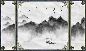 Темные горы в рамке