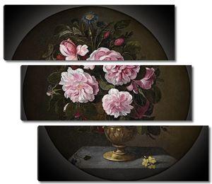 Педро ди Кампробин. Бронзовая ваза с розами