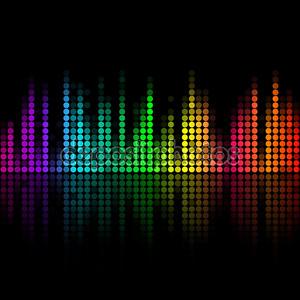 Векторный Музыка объем абстрактный фон