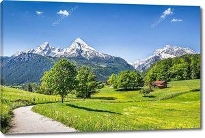 Пейзаж в Альпах