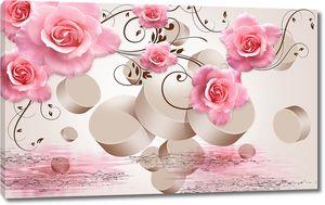 Абстракция с розами и цилиндрами