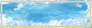 Широкое небо с птицами