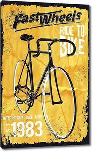 Ретро иллюстрация велосипедов плакаты