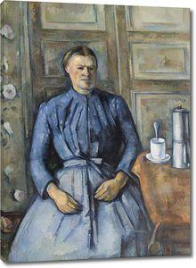 Поль Сезанн. Портрет женщины с кофейником